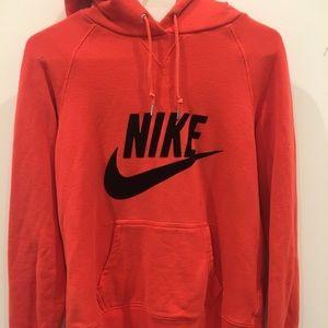 Nike coral hoodie, velvet logo